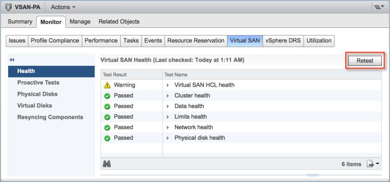 VSAN-health-retest